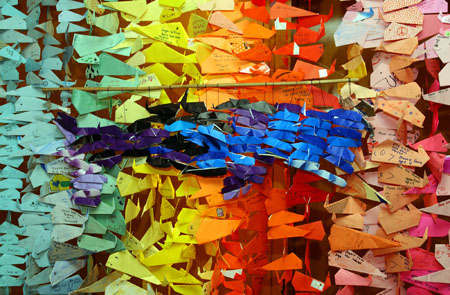 The Curtain Of 30000 Origami Whales Exhibitions At Alaska Center For Performing Arts And Ocean Festival